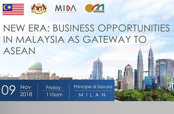 Evento, Milano 9 novembre 2018: partnership Malesia-Italia, opportunità commerciali