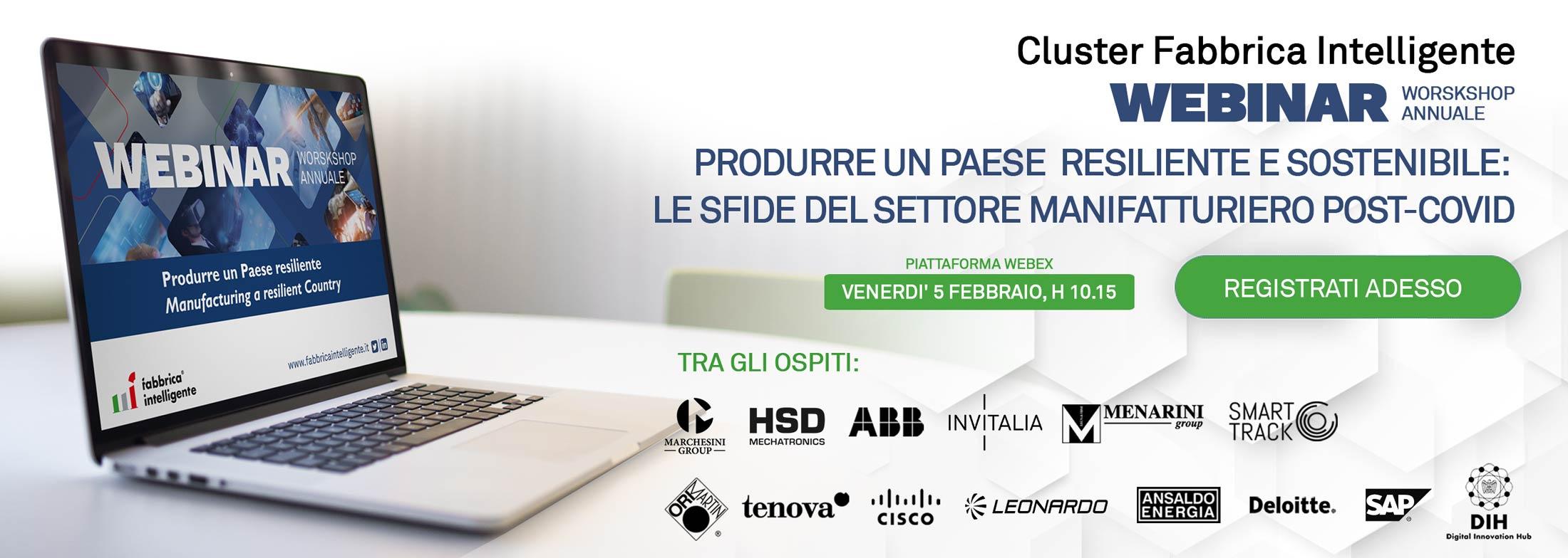 Workshop annuale del Cluster Fabbrica Intelligente